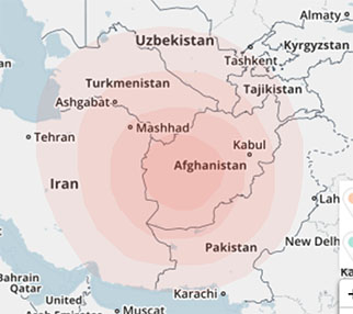 Central Asia (Map courtesy of https://www.familytreedna.com/)