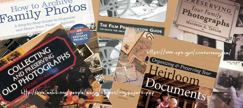 image of a collage of preservation book covers