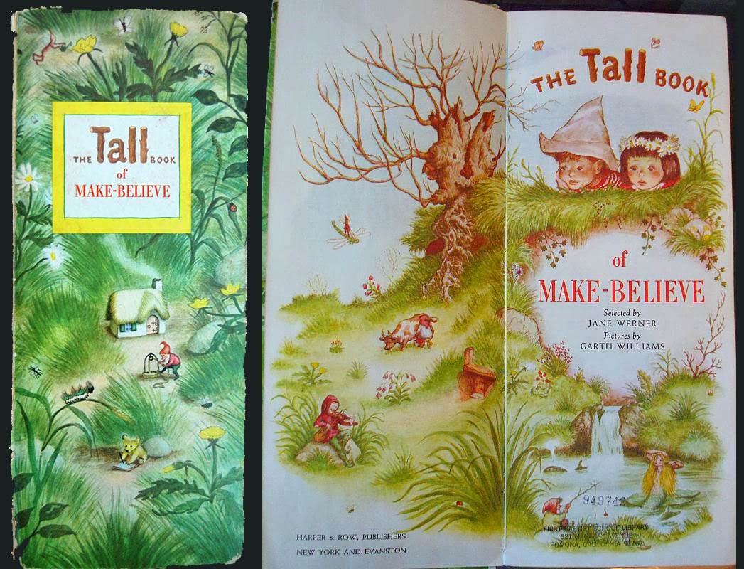 image of the cover and title page of the tall book of make-believe